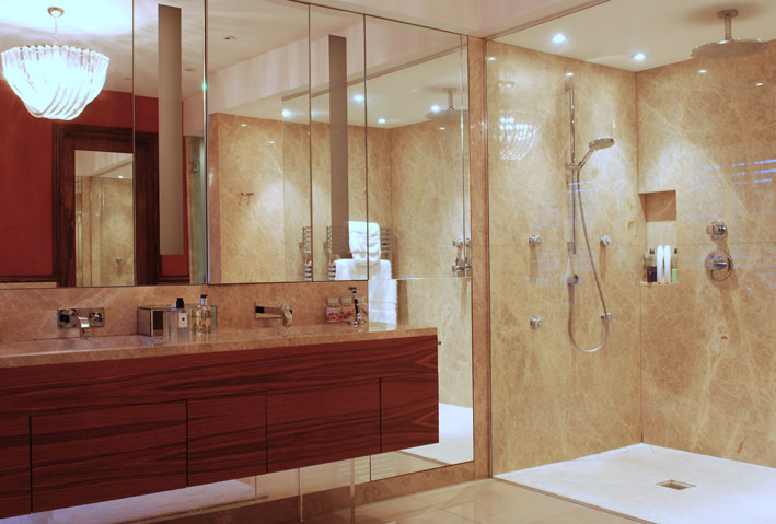 North london mansion interior design uk for Bathroom design north london